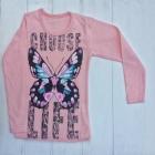 Розовый реглан для девочек с бабочкой