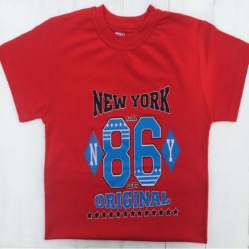 Стильная красная футболка для мальчика