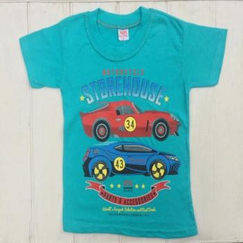 Бирюзовая футболка для мальчика