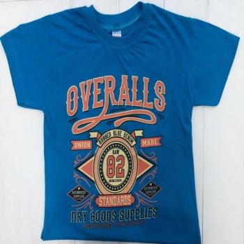 Синяя стильная футболка для мальчиков