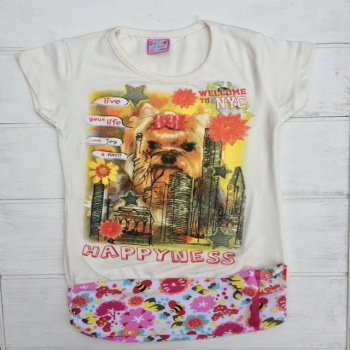 Белая футболка-туника
