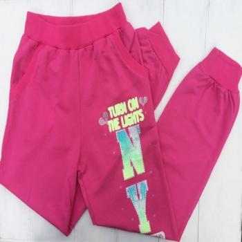 Розовые спортивные штаны для девочек