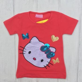 Модная коралловая футболка 86