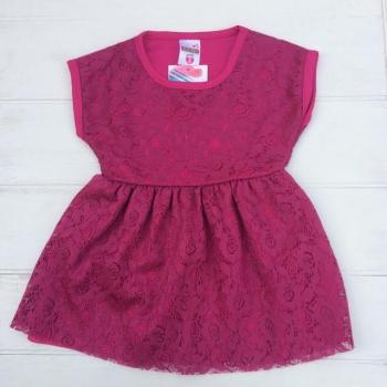 Малиновое платье для девочек