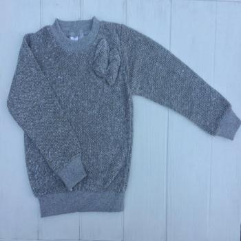 Серый теплый свитер