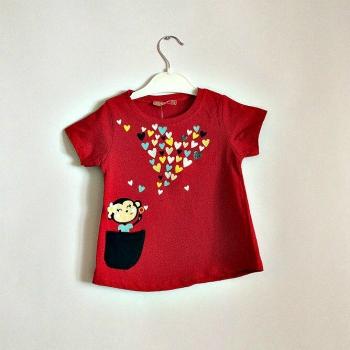 Детская модная футболка для девочек, Турция