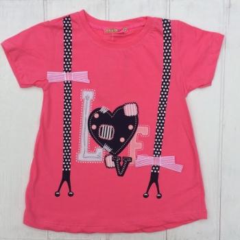 Стильная розовая футболка для девочек