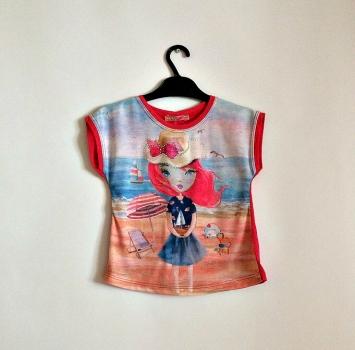 Яркая детская футболка,Турция