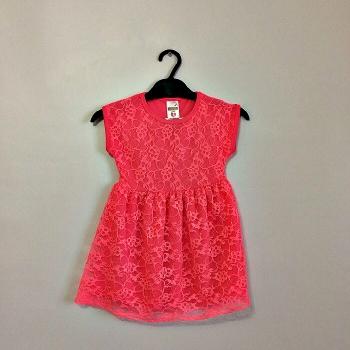 Розовое неоновое платье для девочек