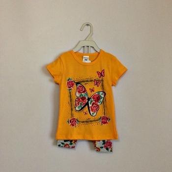 Летний комплект для девочек:футболка+лосины