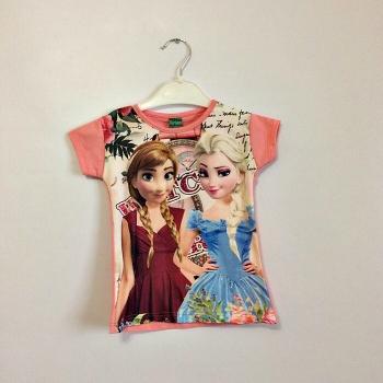 Нежно розовая футболка для девочек