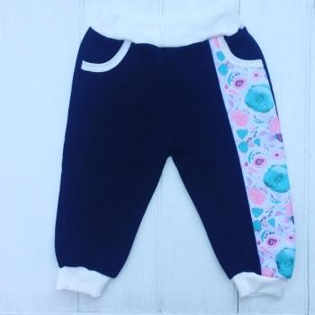 Синие штанишки с цветами