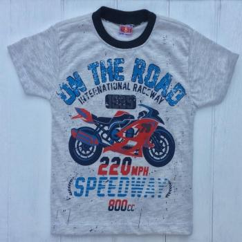 Серая футболка для мальчиков