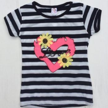 Модная футболка для девочек в полоску