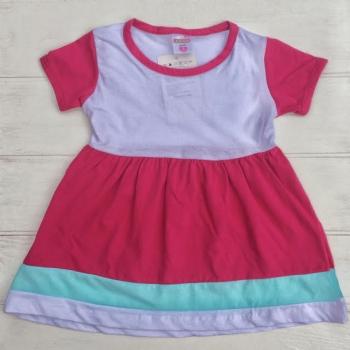 Розово-белое платье для девочек