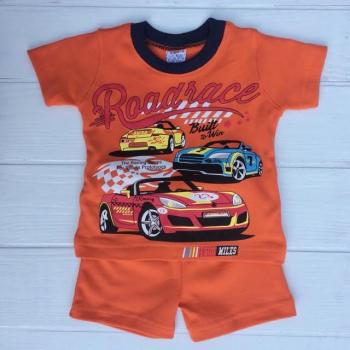 Оранжевый летний костюм для мальчиков