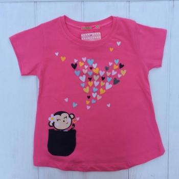 Розовая футболка для девочек