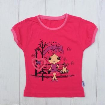 Розовая летняя футболка