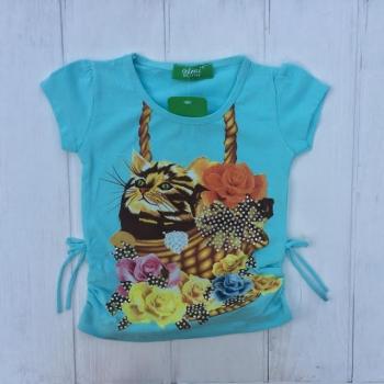 Стильная детская футболка для девочек,Турция